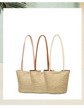 AUTUMN SOUND Hand Bag For Women Girl Woven Large Straw Flower Basket Storage Tote Female Bags Travel Handbag Shopping