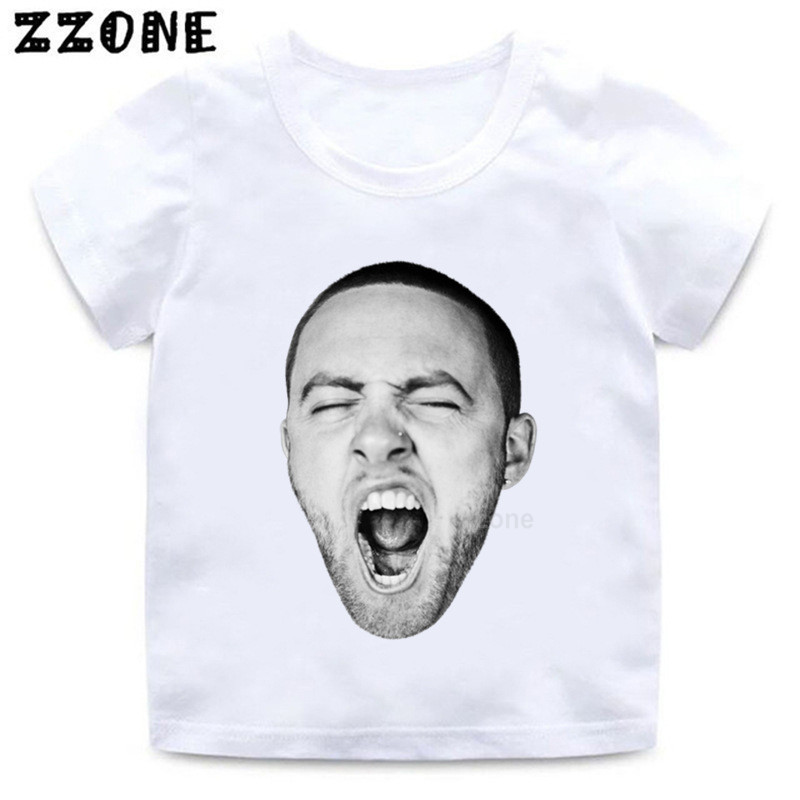 Boys/girls Hip Hop Rapper Mac Miller Pattern T Shirt Kids Funny Cartoon Clothes Baby Fashion Summer Short Sleeve T-shirt,hkp5235