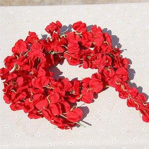 Image 5 - 11 adet yapay çiçek Wisteria vine 120cm tek Silk140 çiçekler serisi DIY bitkiler ev düğün dekorasyon duvar arka plan için