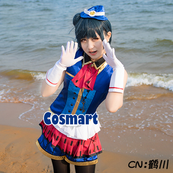 [Customize]Anime Love Live!Sunshine!Tsushima Yoshiko Happy Party Train Aqours Awakening Uniform lovelive Cosplay Costumes free