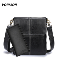 VORMOR Men bag 2018 fashion mens shoulder bags high quality leather casual messenger bag business men's travel bags