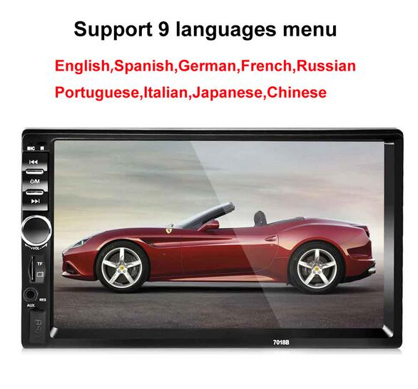 Autoradio 2 Din General Car Models 7'' inch LCD Touch Screen Car Radio Player Bluetooth Car Audio Support Rear View Camera 7018B image