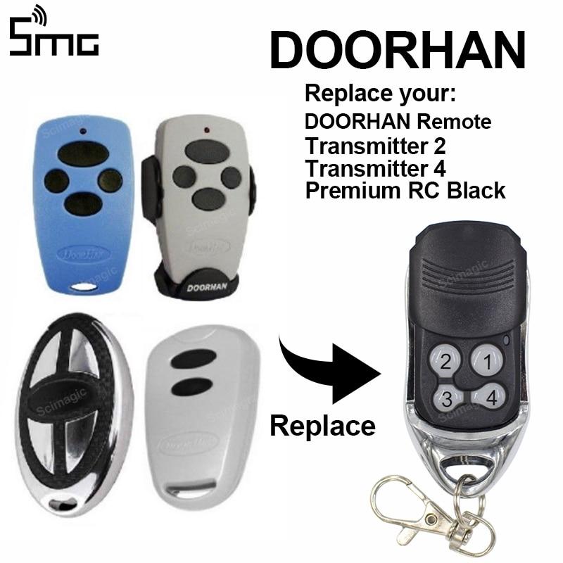 1pcs Scimagic Doorhan Transmitter4 Doorhan Transmitter2 Premium RC Black Garage Door Remote Control Gate 433,92MHz Rolling Code