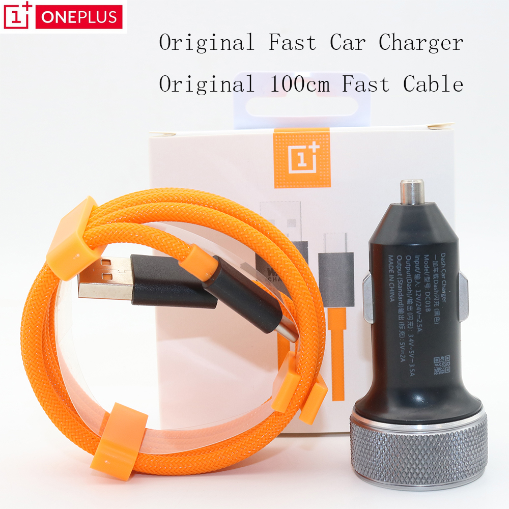 Oneplus Fast-Car-Charger Cable Original USB 1 For 2/3-3t-5/5t/6-6t-7 Data