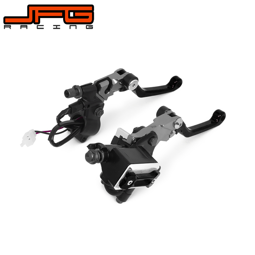 22MM Universal Motorcycle Brake Lever Master Cylinder & Cable Clutch Perch For KTM YAMAHA HONDA SUZUKI KAWASAKI DIRT PIT BIKE keoghs adelin 7 8 front brake clutch hydraulic master cylinder lever 12 7mm for honda yamaha suzuki kawasaki