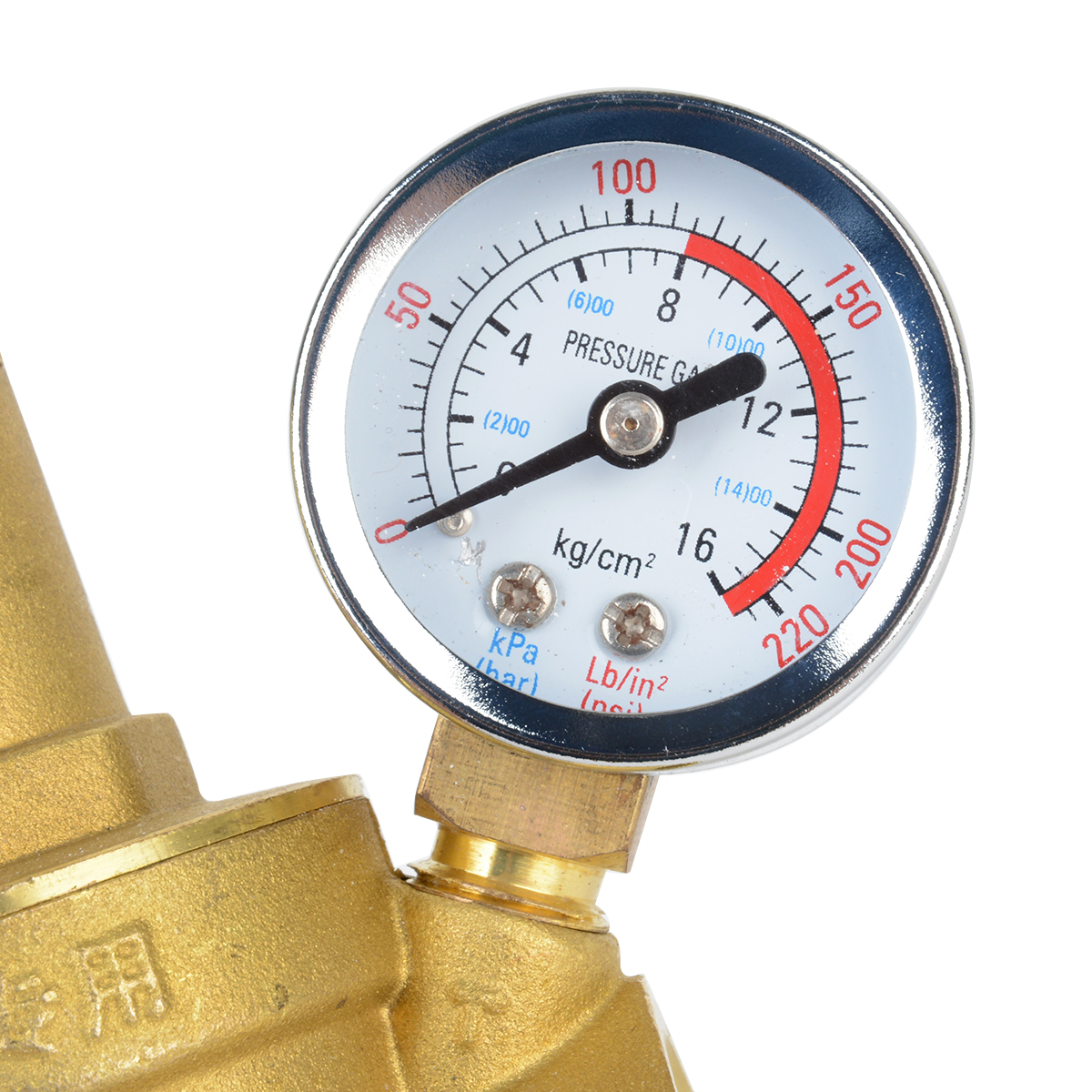 "Adjustable DN15 NPT Water Reducing Valve 1/2"" Brass Pressure Gauge Regulator Valves With Gauge Meter"