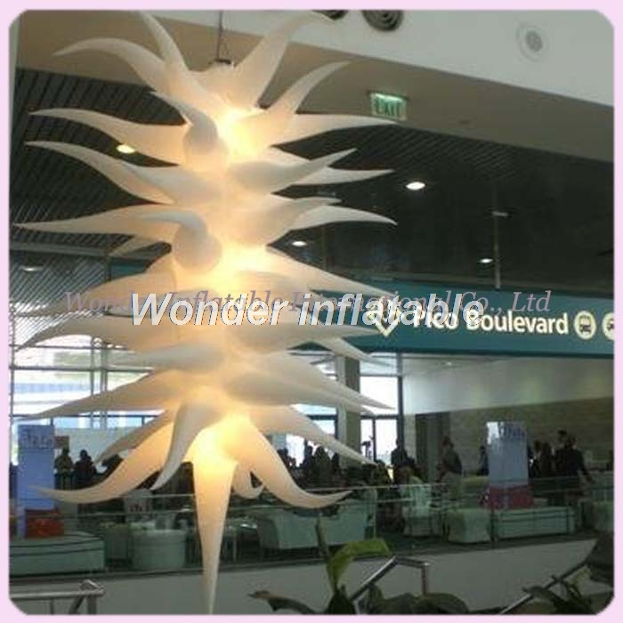 Fatanstic 2.5m/8ft inflatable hanging led lighting balloon/long star - Festive and Party Supplies