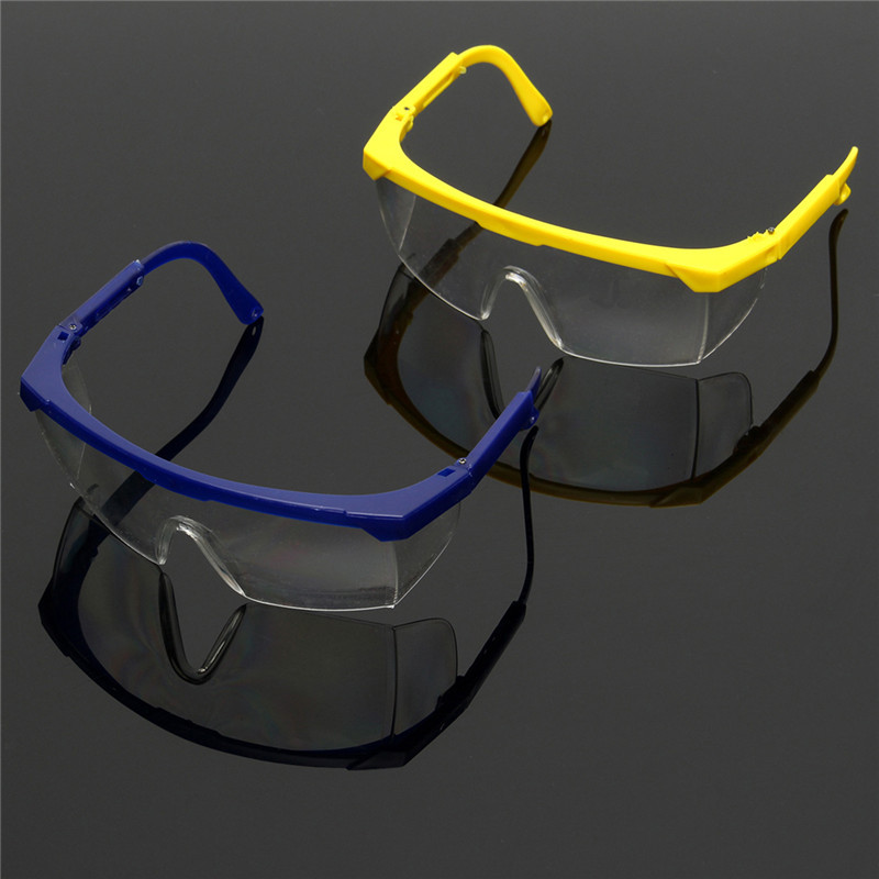 цена на Protective Glasses Blue and White Color Safety Goggles Eye Protection  Workplace Safety Supplies