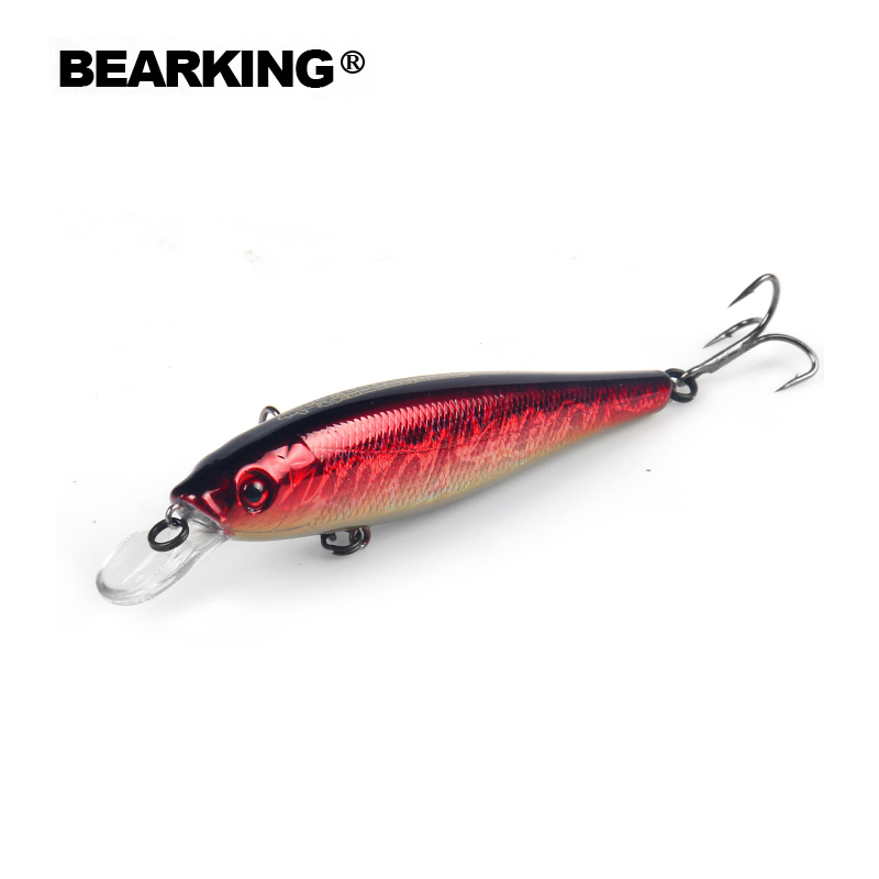 Bearking Tungsten balls long casting 10cm 17.5g New model fishing lures hard bait dive 1.8m minnow,quality professional minnow the magnet conquero fishing lures assorted colors quality minnow 110mm 14g tungsten ball bearking 2017 model crank bait