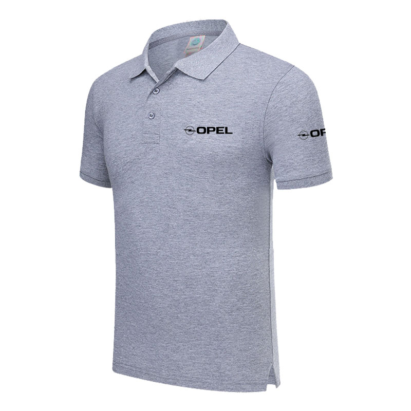 Polo   Shirt Opel logo Casual Solid shirt Short Sleeve Cotton printed   Polos