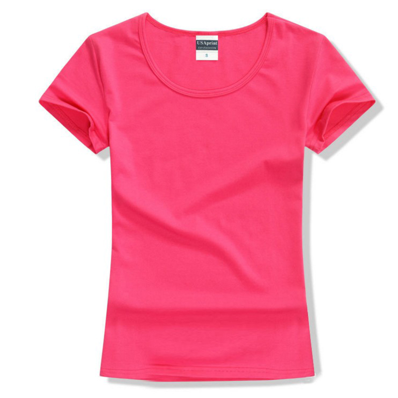 Brand New fashion frauen t-shirt tops Kurzarm Baumwolle tops für frauen kleidung feste O-ansatz t-shirt, freies verschiffen