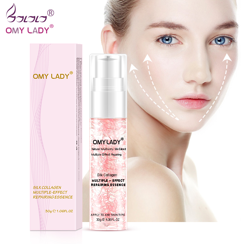 OMY LADY Silk Collagen Multiple-Effect Repairing Essence Face Care Liquid Essence Delay Aging Reduce Wrinkles Moisturizing Skin