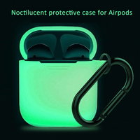 Silicone Case Protective Cover Pouch with Dust Plug Anti Lost Protector For Apple Airpods Air Pods Elegant Sleeve Fundas Accesso