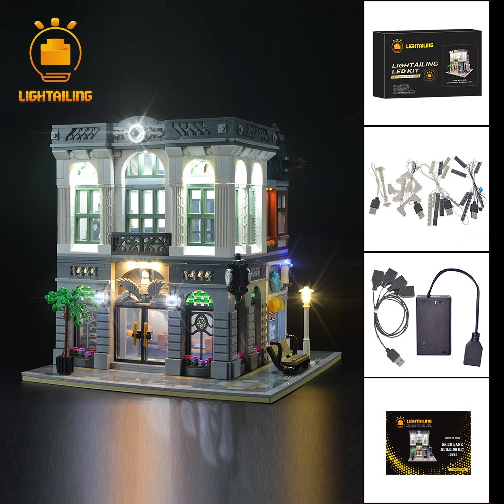 LIGHTAILING Led Light Up Kit For Creator Brick Bank Building Block Model Light Set Compatible With 10251 And 15001 led blue light octopus electronic building block brick module for arduino