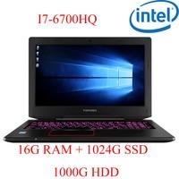 "1000g hdd P6-12 16G DDR4 RAM 1024G SSD 1000g HDD i7 6700HQ AMD Radeon RX560 NVIDIA GeForce GTX 1060 4GB 15.6"" המחשב הנייד המשחקים (1)"
