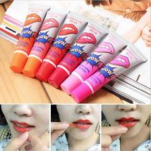 6Pcs/lot Pintalabios Romantic Bear Peel Off Lipstick Liquid Matte Baby Lips