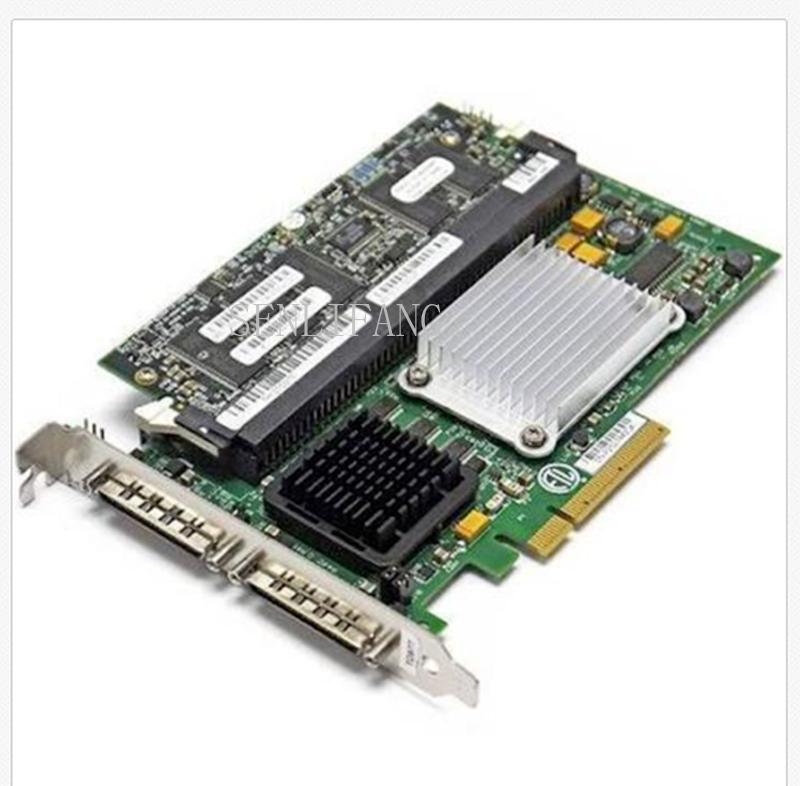 Free Shipping Well Tested For TD977 Perc 4E/DC LSI 320-2E SCSI PCI-E RAID Controller Card X6847 Working