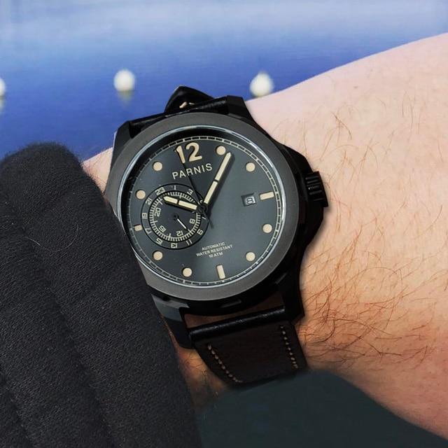 Parnis Automatic Watches Men Wristwatch Clock Diver Luminous 10Bar Waterproof Miyota Mechanical Military Relogio Masculino 2018 цена 2017