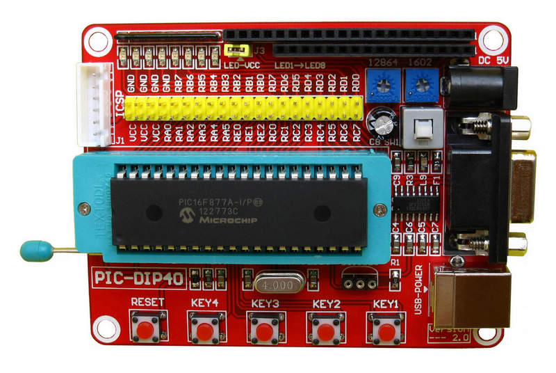 The Minimum System Board of PIC18F4520 Development Board Single Chip Microcomputer пылесос hoover tcp1401 019 1400вт голубой