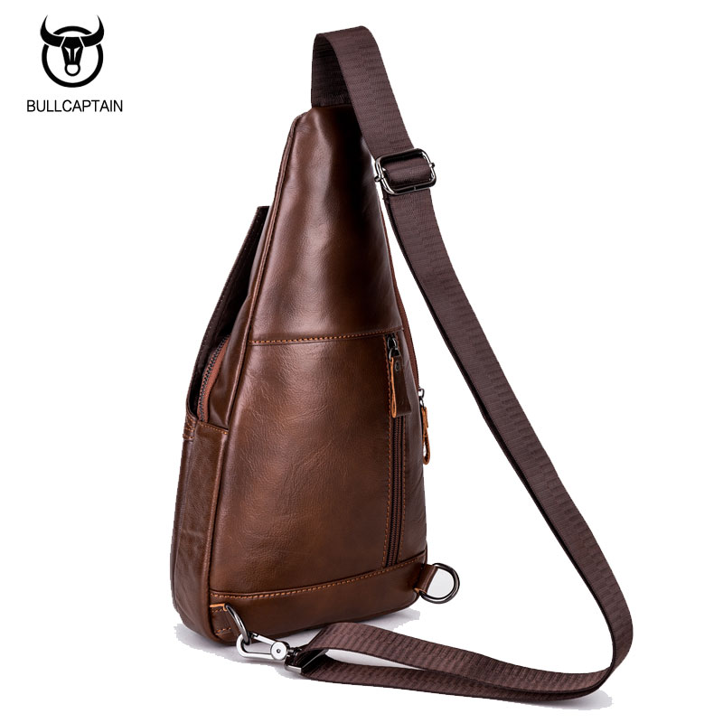 56e3110ab6 BULLCAPTAIN Tašky na přezky Pánská hrudníková taška Designer ...
