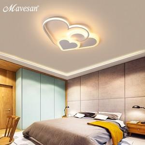 Image 2 - Różowe oświetlenie ledowe żyrandol dla dziewczyny sypialnia Plafond oświetlenie akrylowe lampy nowoczesne nowe oprawy Lampadario oprawy nabłyszczania