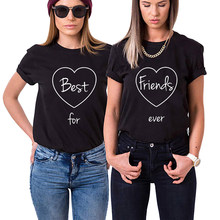 d59fe15d 2018 Best Friends Forever Funny Letter Matching T-shirts Fashion Bff tshirt  Girls T Shirt Women Cotton sisters Tee Shirt Femme