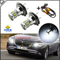 Exclusivo diseño de Alta Potencia Blanco CRE'E H7 Bombillas LED + LED decodificadores Para BMW 3 Serie 5 de luz De Carretera Daytime Running Lights