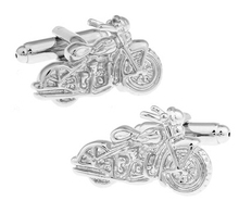 Free shipping Motorcycle Cufflinks silver color motorbike design copper material men cufflinks whoelsale&retail
