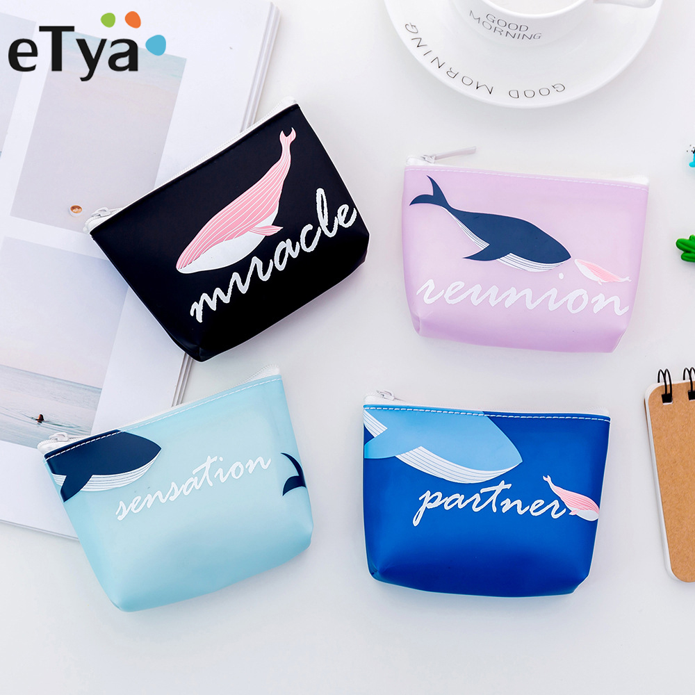ETya Cartoon Women Coin Purse Headset Bag Samll Change Purse Wallet Money Pouch Bag For Kids Girl Gift Card Holder Cute Bags