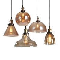 Vintage Amber Glass Pendant Light Retro Clear Glass Indoor Lighting Fixture Glass Pendant Lamp Decorative Glass Restaurant Cafe