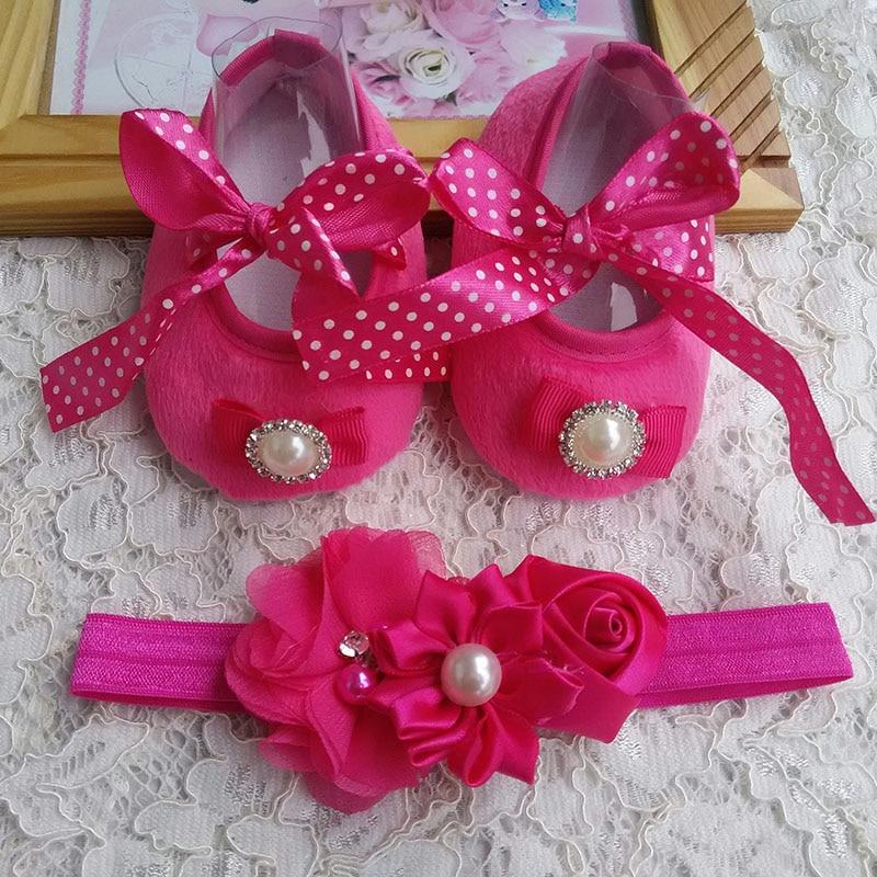 2015-ös baba lábbeli díszítés, lányok keresztelő cipő, baba cipő fejpántok, lányok virág íj baba kisgyermek cipő