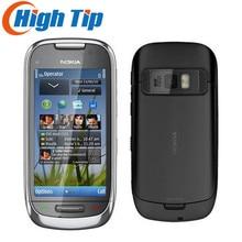 C7 Nokia Unlocked original cell mobile phone GSM 3G  WIFI GPS 8MP 8GB internal memory  1 year warranty Free shipping Refurbished