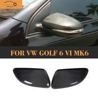 100 Carbon Fiber Car Wing Mirror Cover For Golf VI Carbon Fiber Mirrir Cover Full Replacement