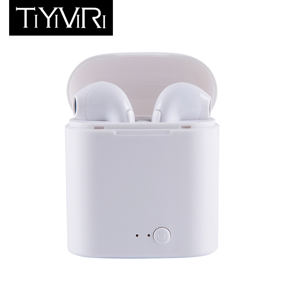 Bluetooth Earphone Mini Wireless Twins Stereo Sport Waterproof Headset Headphone with Mic Charging Box for Samsung xiaomi iphone sport wireless bluetooth headset headphone stereo earphone for iphone 6 6s plus samsung lg