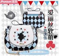 Princess sweet lolita bag anime Alice in Wonderland soft sister satchel bow portable the single shoulder bag BAG145