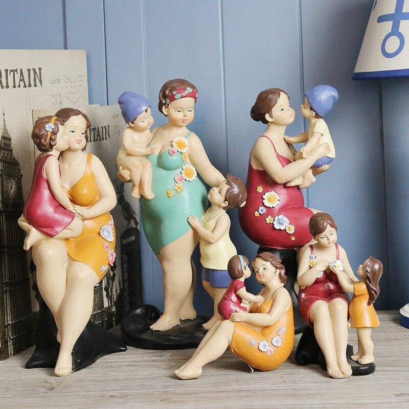 Maillot de bain américain Figure décoration chaude famille résine artisanat décoration de la maison accessoires de décoration vintage décor à la maison