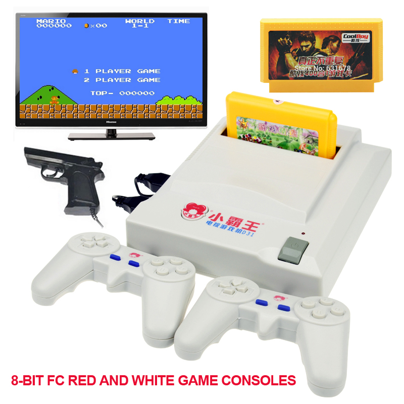 d31 tv game console video player for fc dual gamepad video game consoles original card 400 games. Black Bedroom Furniture Sets. Home Design Ideas