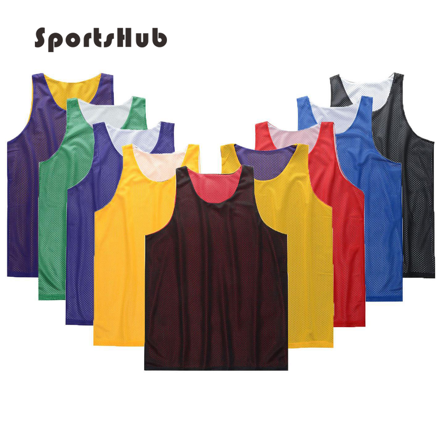 SPORTSHUB Anti-pilling Kaus Basket Bernapas Polyester Anti-wrinkle Universitas Basketball Jerseys Disesuaikan Cetakan SAA0003