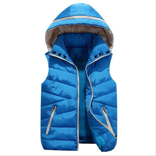 Новое на осень/зима моды для женщин-родитель-ребенок пары вниз хлопка жилет