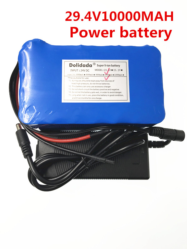 2018 New 29.4V 10000 mah 18650 Battery lithium battery 29.4v Electric Bicycle moped /electric/lithium ion battery pack+Charger 2016 promotion new standard battery cube 3 7v lithium battery electric plate common flat capacity 5067100 page 5