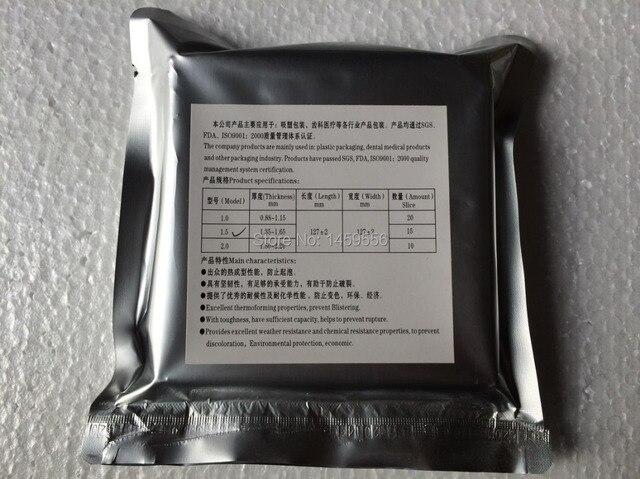 hot selling dental 15 PCS Dental Lab 0.079'' Thickness hard Thermoforming Material Vacuum Forming