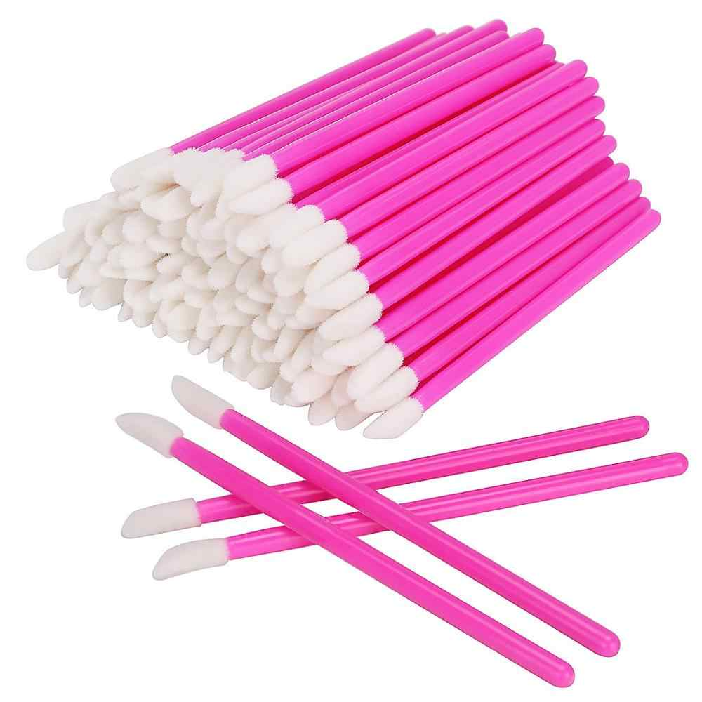 Groothandel 1000 pcs Rose red Lipstick Gloss Wegwerp Lip Borstel Pen Wands Applicator Borstel Professionele Makeup Tools