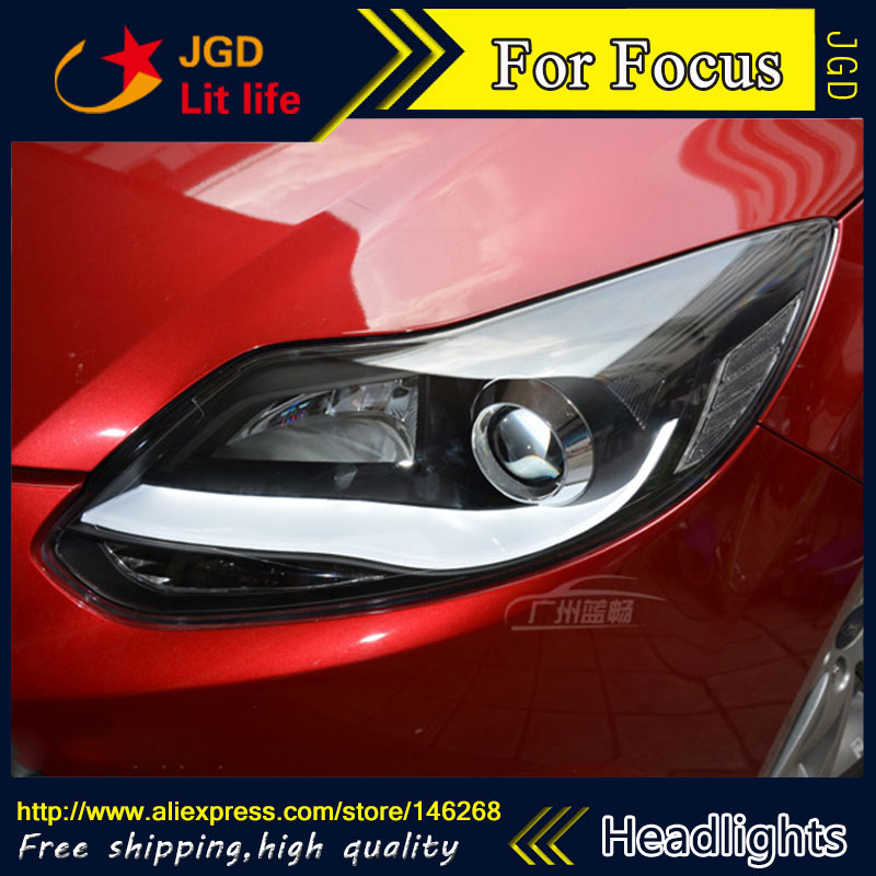 Free shipping ! Car styling LED HID Rio LED headlights Head Lamp case for Ford Focus 2012 2013 Bi-Xenon Lens low beam auto part style led head lamp for porsche 997 series led headlights for 997 drl h7 hid bi xenon lens angel eye low beam