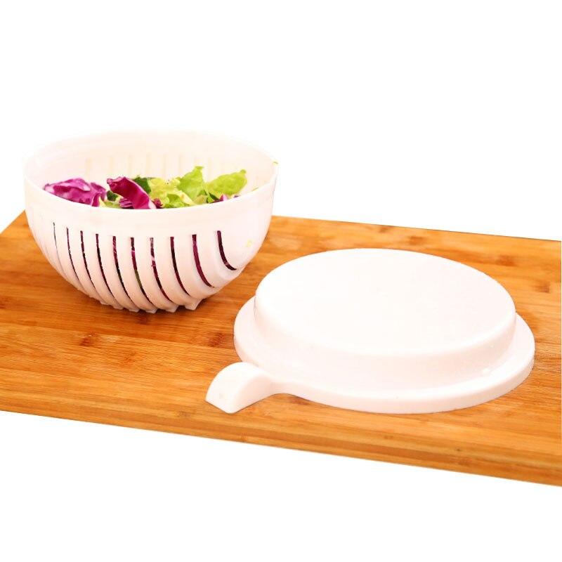 1 Set 60 Secondes Salade Légumes Fruits De Coupe Bol Pour Soignée Légumes Fruits Uniforme Pour La Maison À La Main Salade Cuisine Outils