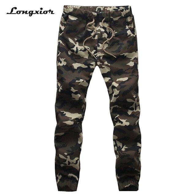 Мужские камуфляжные брюки с завязками, хлопковые брюки для бега, M 5XL, размеры XX16, 2019 Джогеры      АлиЭкспресс