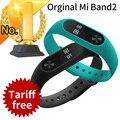 Original xiaomi mi banda 2 band2 miband pulsera pulsómetro inteligente rastreador de ejercicios touchpad oled correa en stock