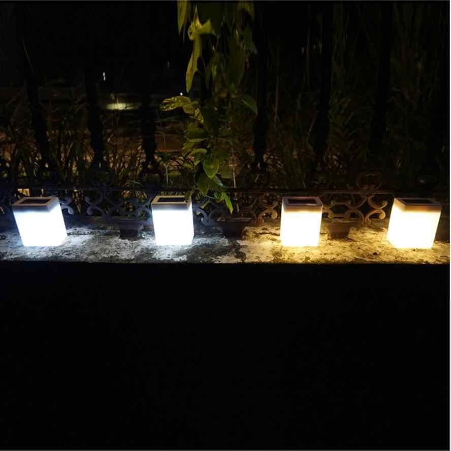 Оптовая продажа Солнечный свет открытый мода квадратный Солнечный настенный светильник садовые огни забор лампа Кемпинг лампа настольная лампа