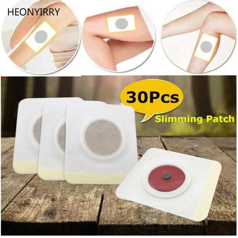 30pcs Slim Patch Stomach Fat Burning Navel Stick font b Slimming b font Weight Loss Burn