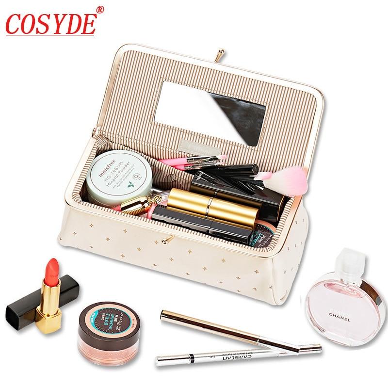 Women Small Makeup Bag Cosmetic Bag High Quality Professional Fashion Travel Makeup Organizer Makeup Box Toiletry Pouch Bag