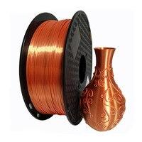 3D Printer Filament Silk Texture Feeling Gold 1.75mm 1kg Silky Rich Luster PLA Golden Silver blue 3d Printing Materials